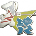 London 2012 Fencing Mascot Pin