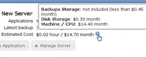 Bitnami Estimated Cloud Computing Costs