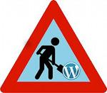 WordPress Under Construction Triangle