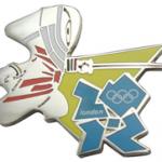 London 2012 Fencing Mascot Pin