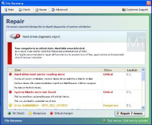 File Recovery Fake Warning Screen Shot